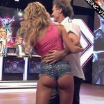 Candela Ruggeri in Bailando 2016 (reggaeton in mini shorts)