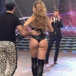 Josefina Oriozabala in Bailando 2016 (tight booty blonde)