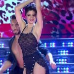 Carla Conte in Bailando 2016 (see through dress)