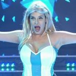 Charlotte Caniggia in Bailando 2016 (big chested soccer girl)