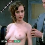 Ines Estevez posing topless in the movie Cuerpos Perdidos