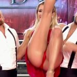 Laura Fernandez in Bailando 2016 (nasty upskirts and sexy tits)