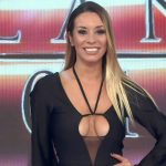 Barby Reali black catsuit with a hot cleavage