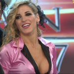 Macarena Rinaldi deep cleavage in Bailando 2017