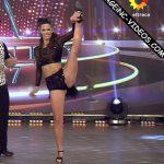 Laura Oliva dancing salsa trio in Bailando 2017