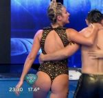 Ailen Bechara aquadance duel in Bailando 2015 (cute wet ass)