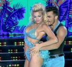 Ailen Bechara in Bailando 2015 (sideboob and upskirts)