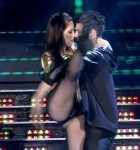 Barbie Velez in Bailando 2015 (big ass in leather shorts)