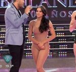 Barbie Velez in Bailando 2015 (improvisation and underwear)