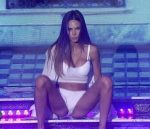 Barbie Franco in Bailando 2015 (sexy ass in white lingerie)