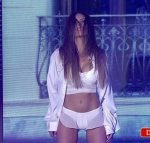 Barbie Franco adagio duel in Bailando 2015 (white lingerie)