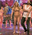 Barby Reali in Bailando 2015 (lingerie and disco dance)