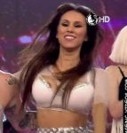 Barby Silenzi in Bailando 2016 (cumbia pop duel and oops…)