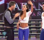 Celeste Muriega in Bailando 2015 (fit body in blue leggings)