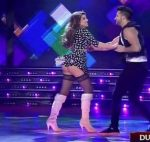 Charlotte Caniggia in Bailando 2016 (stockings and upskirts)