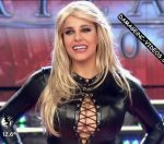 Charlotte Caniggia in Bailando 2016 (black leather catsuit)