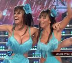 Iliana Calabro and Fatima Florez in Bailando 2016 (oops)