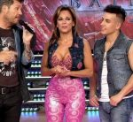 Iliana Calabro in Bailando 2016 (pink catsuit and hot cleavage)