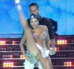 Laura Fernandez in Bailando 2015 (sexy cleavage and upskirts)