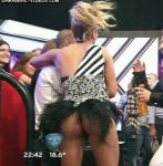 Laura Fernandez in Bailando 2015 (uspkirts and almost nip slip)