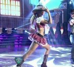 Laura Fernandez sexy legs and upskirts in Bailando 2015