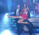 Lourdes Sanchez in Bailando 2015 (hot legs in red dress)