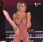 Macarena Rinaldi in Bailando 2015 (super fit body in undies)