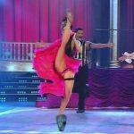 Macarena Rinaldi in Bailando 2015 (cabaret upskirts)