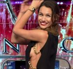 Pampita hot sideboob and cleavage in Bailando 2016