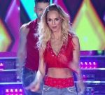 Sabrina Rojas in Bailando 2016 (busty red top and jeans)