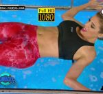 Virginia Gallardo see through leggings in Combate