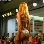 Carola Del Bianco in lingerie on the catwalk (sweet blonde)
