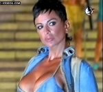 Daniela Cardone busty cleavage on the catwalk