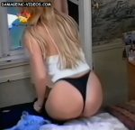 Gisela Barreto puts on her pants (hot ass in black thong !)