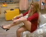 Gisela Barreto hot legs and upskirts as she changes clothes live
