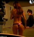 Maria Vazquez sexy curves in a bikini backstage