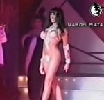 Marixa Balli hot body in her showgirl outfit (a perfect brunette)